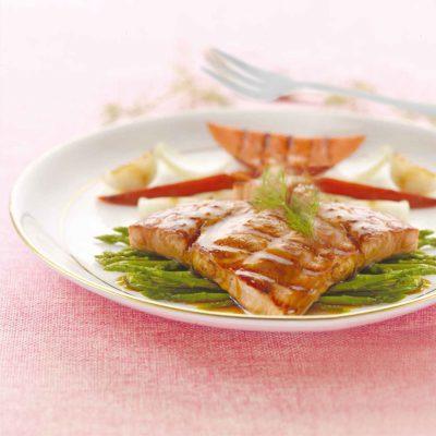 Salmone grigliato con verdure