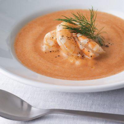 Garnélás-makrélás leves