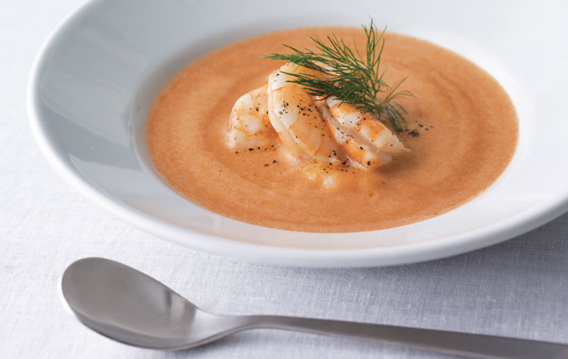 Shrimp and Mackerel Bisque