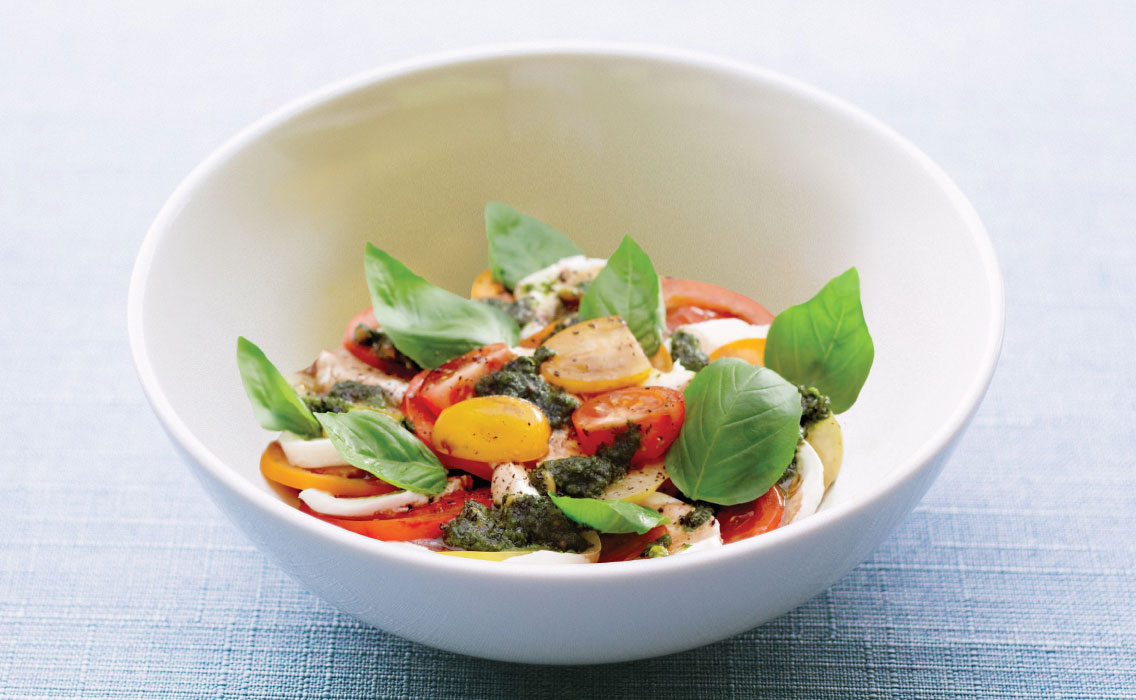 Tomates Mozzarella au pesto