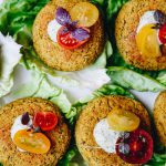 Lupini Beans and Zucchini Patties with Hemp Dill Sauce Recipe