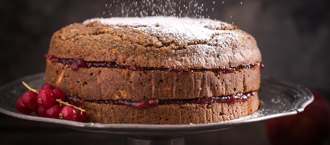 Vegan, gluten-free buckwheat cake