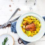 Gegrilde vis met linzencurry recept