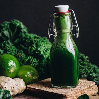 Boisson verte énergisante et saine