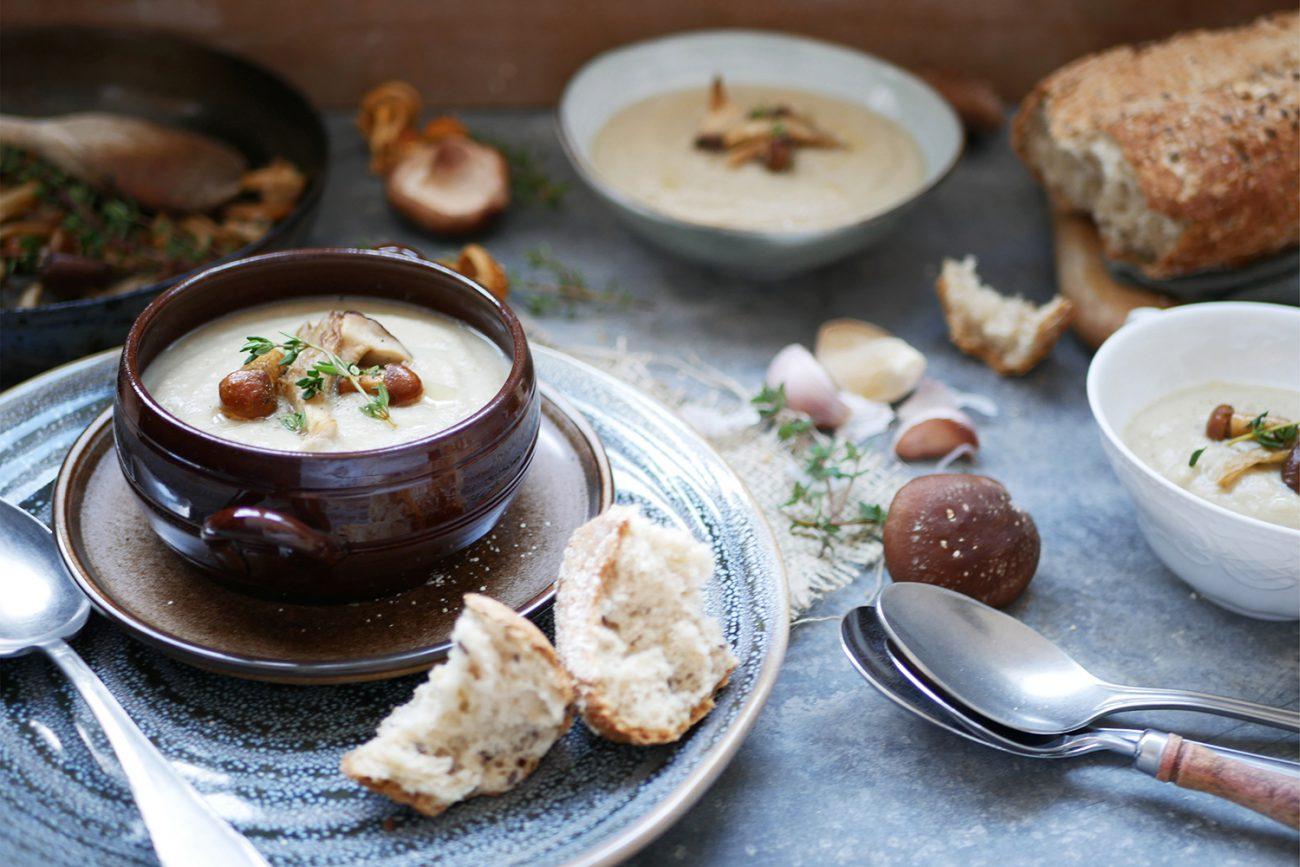 Supă de ciuperci cu păstârnac