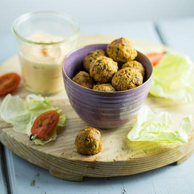 Oven Baked Falafel with Oats and Pumpkin Seeds Recipe