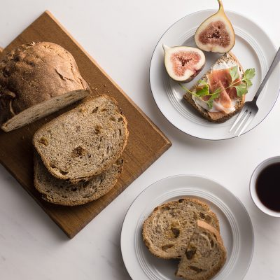 Whole Wheat Bread with Pecan Nuts and Dried Figs Recipe