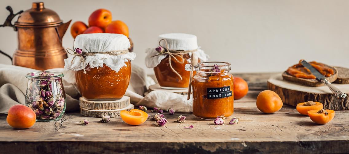 Apricot rose jam