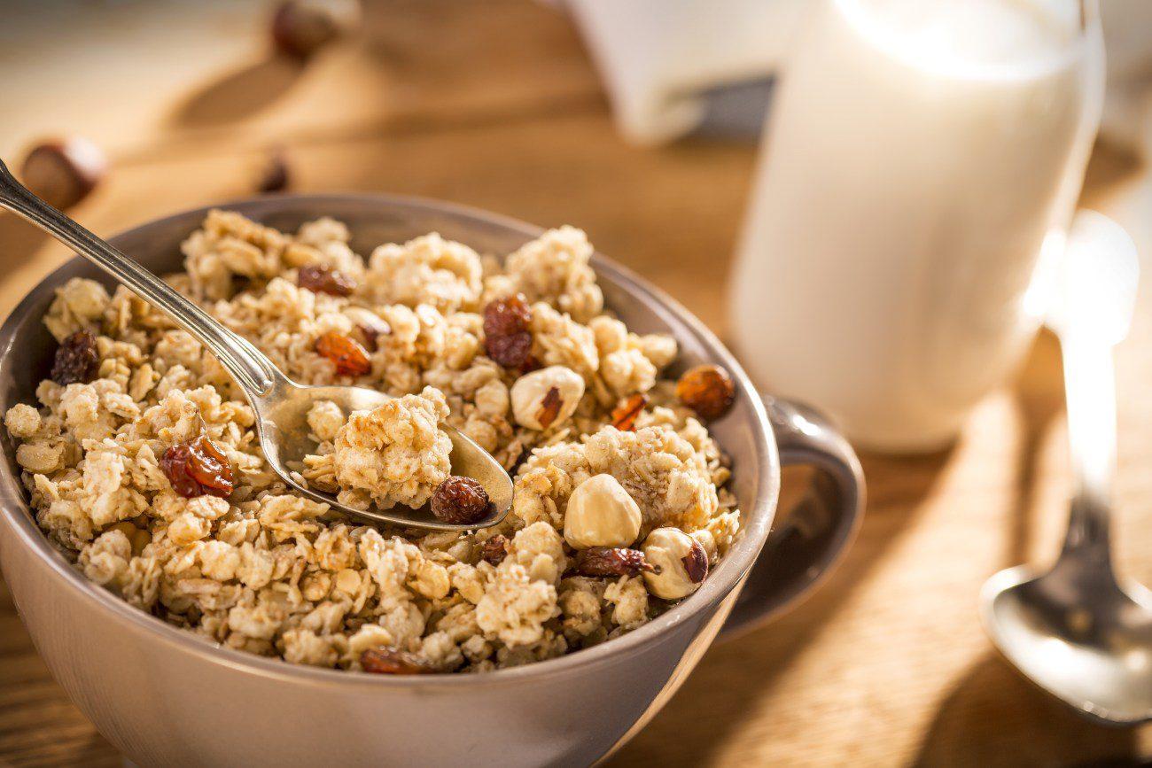 Zelfgemaakte granola