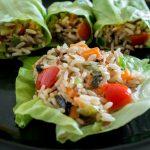 Rollitos de ensalada de arroz