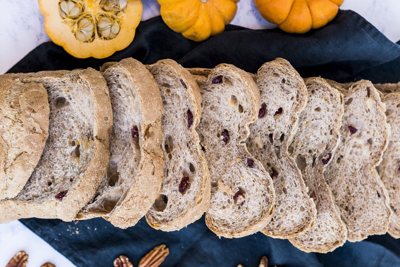 Cranberry, Pumpkin & Pecan Bread