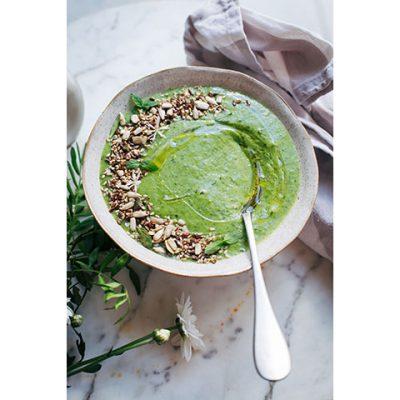 Rauwe groene soep