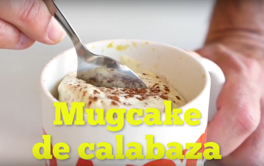 Mugcake de calabaza