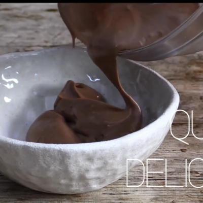 Crema pastelera de chocolate en microondas