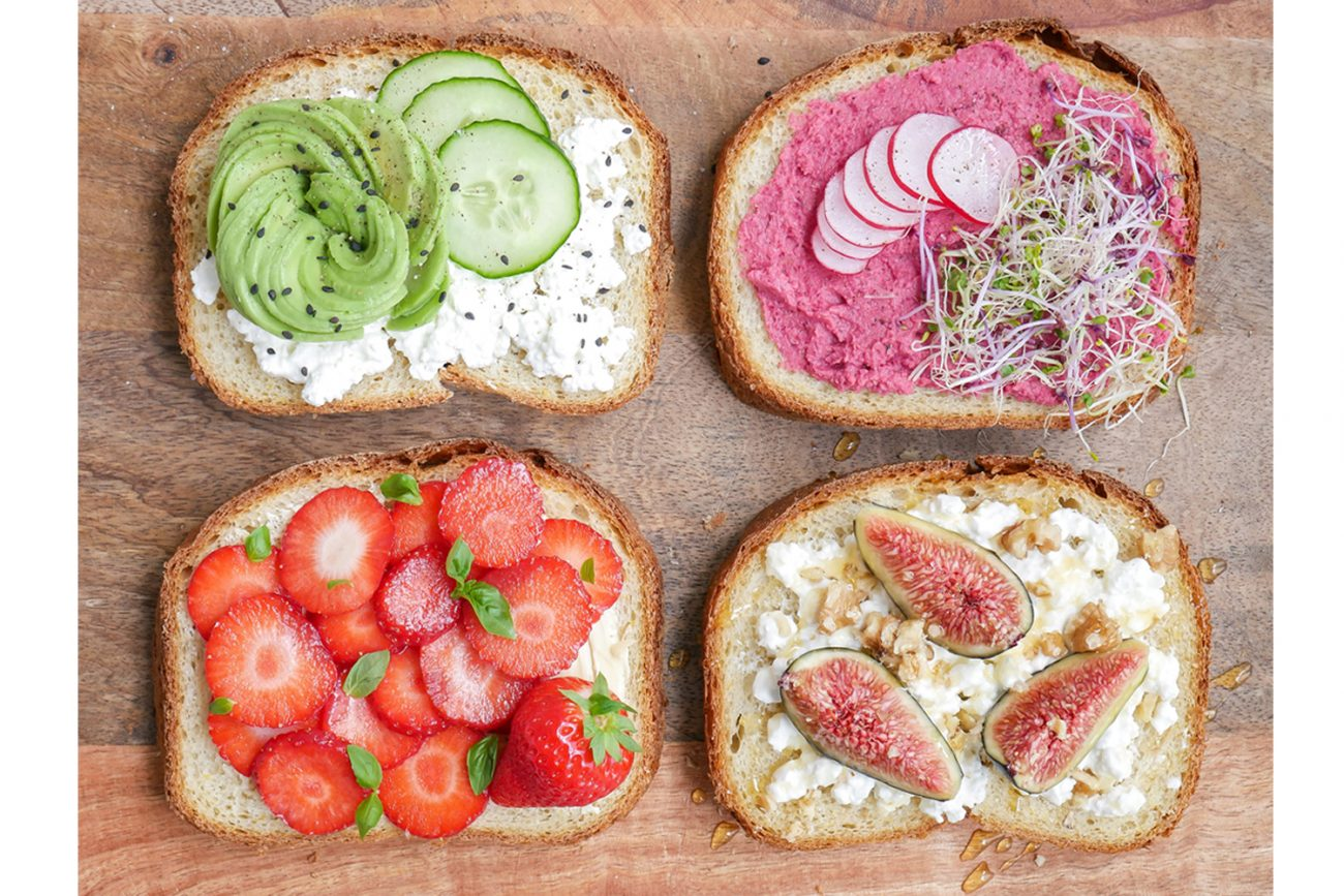 Krokant maisbrood met heerlijke toppings