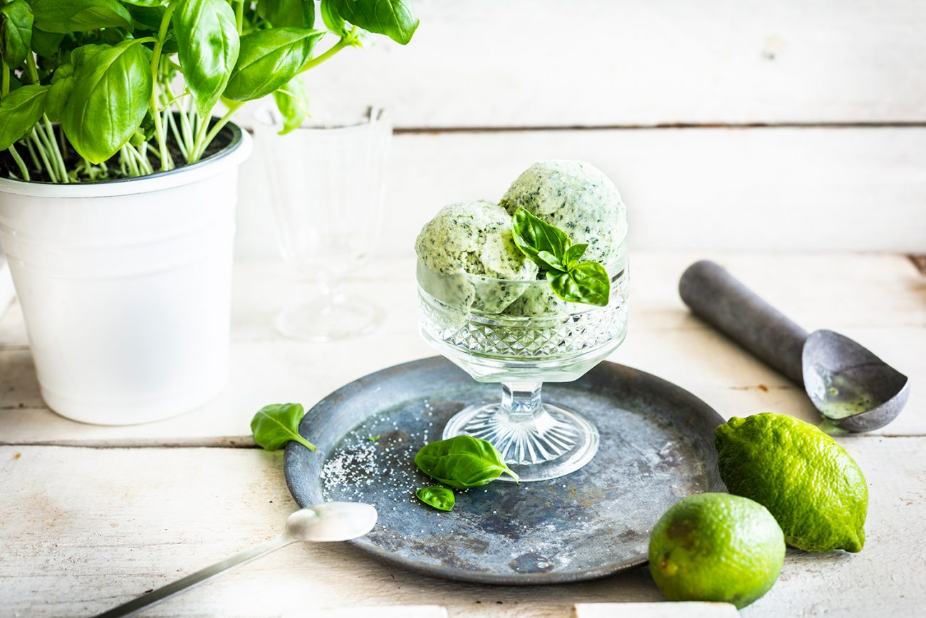 Gin Basil Frozen Yogurt