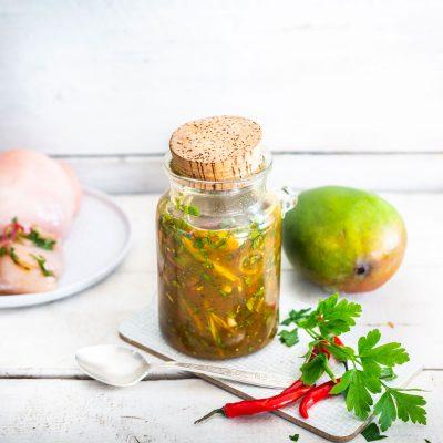 marinade à la mangue pimentée et épicée