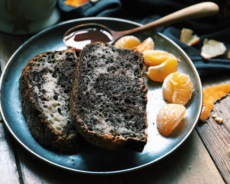 Pâine cu cacao și mandarine
