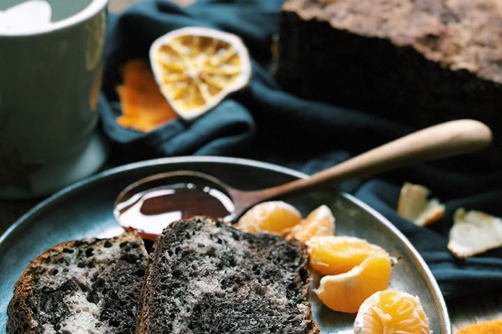 Pain cacao et mandarine