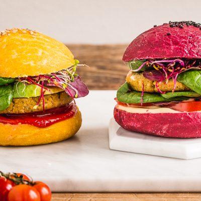 Házi céklás-répás vegán burgerbuci