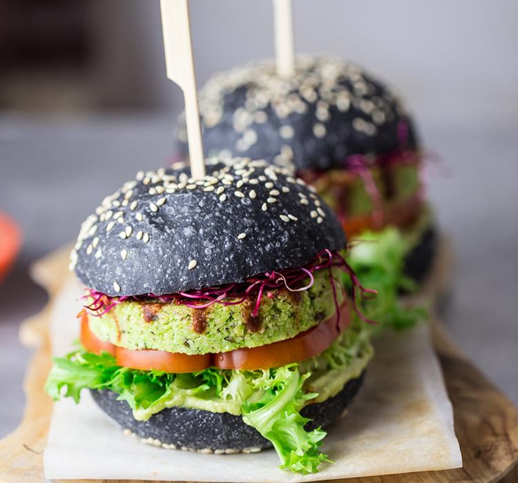 Black Edamame Burger