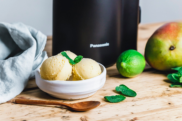 Sorbetto al mango e cocco