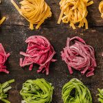Pasta fresca de colores