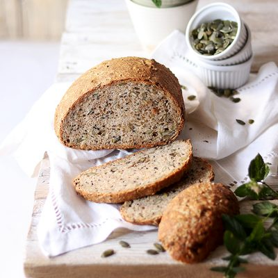 Wholegrain Bread With Seeds and Red Pepper Recipe