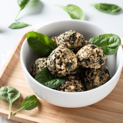 Tofu and spinach meatballs Recipe