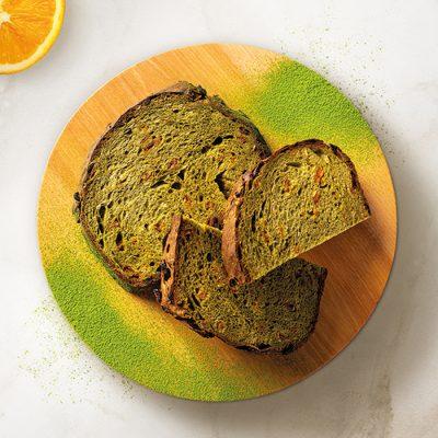 Pane di matcha all'arancia