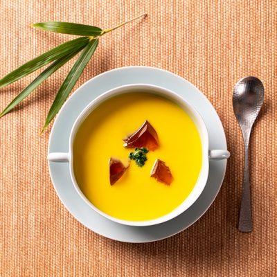 Zuppa di mais fresco