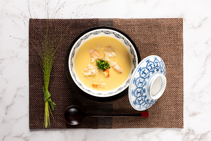 Savoury Egg Custard with Crab