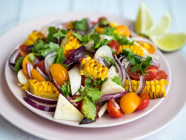 Charred Sweetcorn Salad