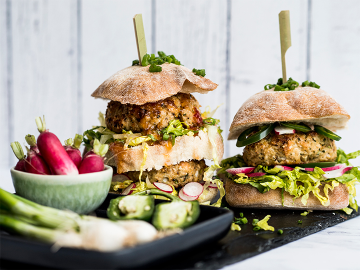 Grilled Asian Chicken Burgers