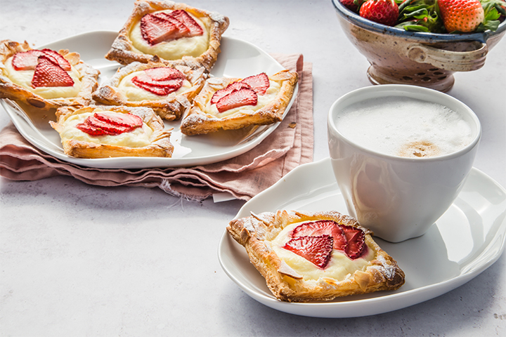 Puff Pastry Tarts with Ricotta and Strawberries