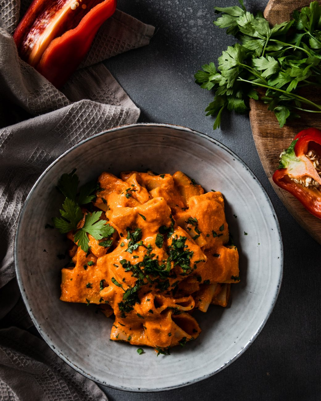 Pasta with Red Pepper Cream