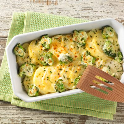 Recette de gratin de brocoli et pommes de terre