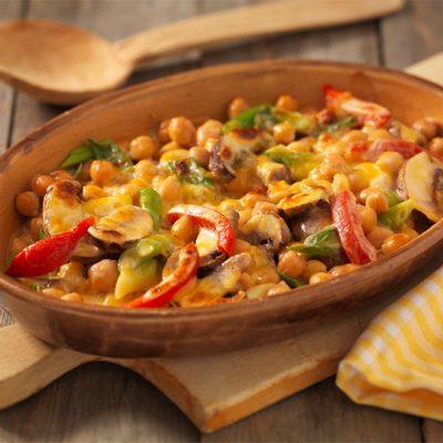 Recept voor vegetarische kikkererwtengratin