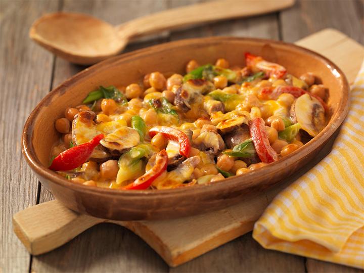 Vegetarian Chickpea Gratin