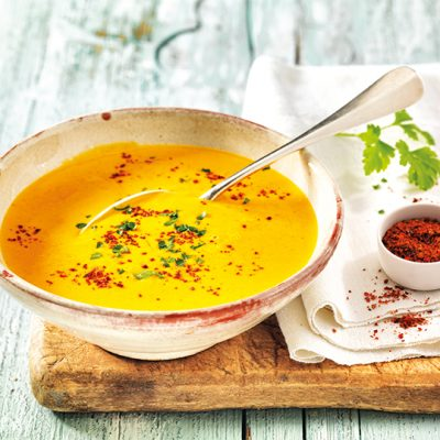 Pumpkin Soup with Nashi Pears and Chilli Recipe