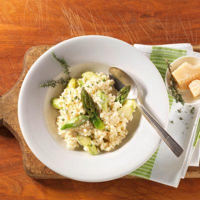 Recette de risotto aux asperges vertes