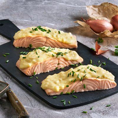 Filetti di salmone in salsa di senape