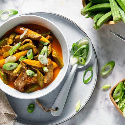 Manzo alla tailandese con curry