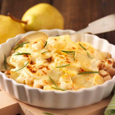 Recette de Gratin de poires et de pommes de terres