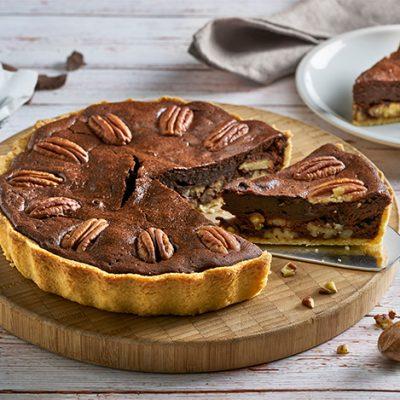 Recette de tarte au chocolat et aux noix de pécan