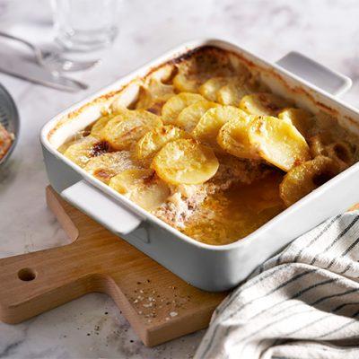 Recept voor karbonade en gebakken aardappel