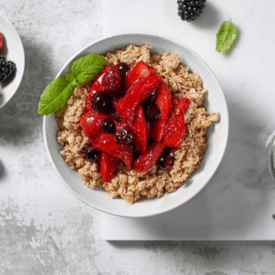 Porridge with Berries and Mint Recipe