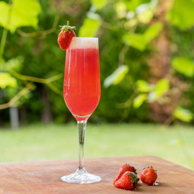 Strawberry Rossini Prosecco Cocktail Recipe