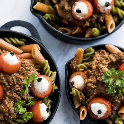Spooky Eyeball Pasta Recipe