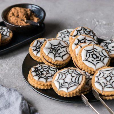 Recette de biscuits fourrés d'Halloween sans gluten